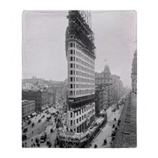 Flatiron Building Construction Throw Blanket