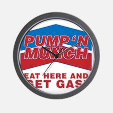 pump n munch Wall Clock
