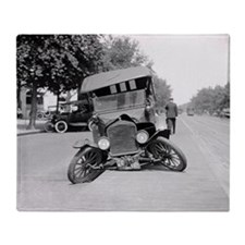 Crashed Ford Model T Throw Blanket