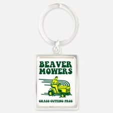 beaver mowers Portrait Keychain