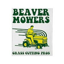 beaver mowers Throw Blanket