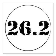 "26_2cir Square Car Magnet 3"" x 3"""