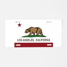 california flag los angeles Aluminum License Plate