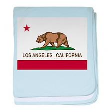 california flag los angeles baby blanket