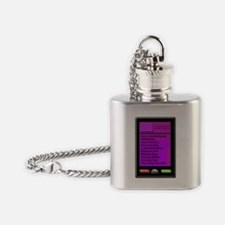 i phone blk screen bdsm contacts Flask Necklace