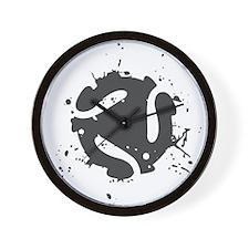 Abstract Splash Wall Clock