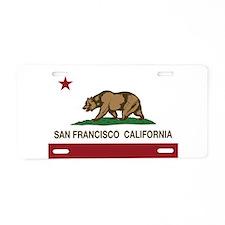 california flag san francisco Aluminum License Pla