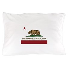 california flag san francisco Pillow Case