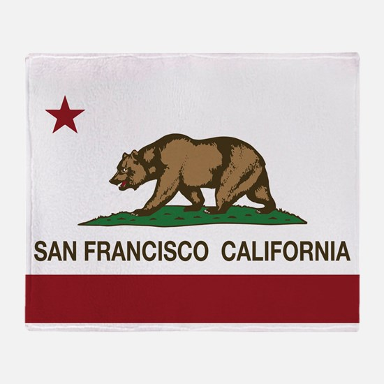 california flag san francisco Throw Blanket