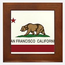california flag san francisco Framed Tile