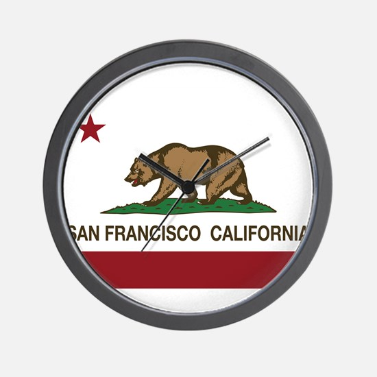 california flag san francisco Wall Clock