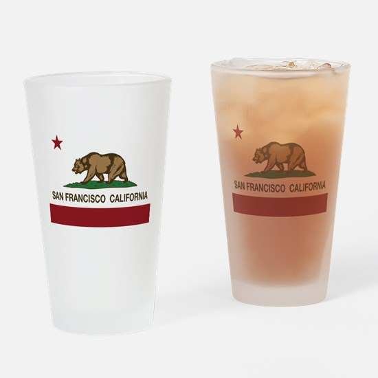california flag san francisco Drinking Glass