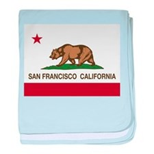 california flag san francisco baby blanket