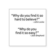 """why do you find it? Square Sticker 3"""" x 3"""""""