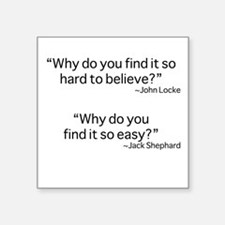 "why do you find it? Square Sticker 3"" x 3"""