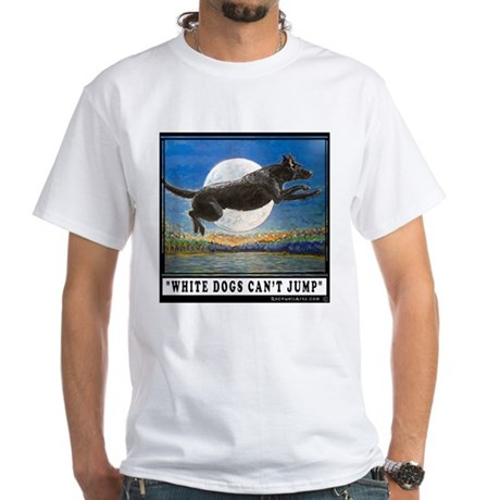 Black Labrador Retriever White T-Shirt