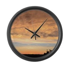 Vermont Sunset Large Wall Clock