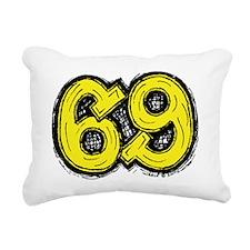 2-69_yellow Rectangular Canvas Pillow
