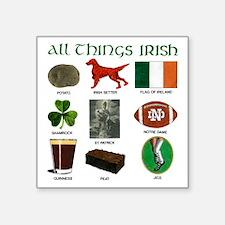 """IrishTransBG Square Sticker 3"""" x 3"""""""