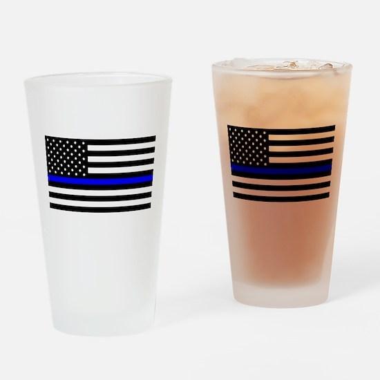Blue Lives Matter Flag Drinking Glass