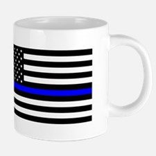 Blue Lives Matter Flag 20 oz Ceramic Mega Mug