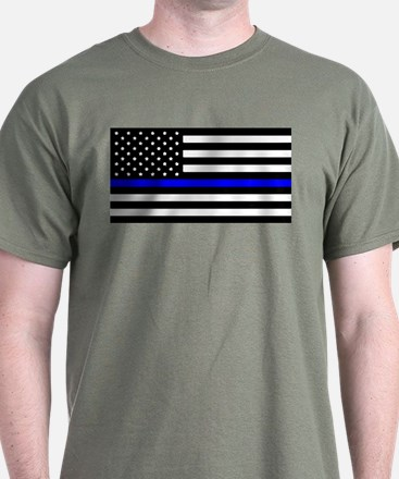 Blue Lives Matter Flag T-Shirt