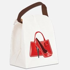 Retail-Therapy-neg Canvas Lunch Bag