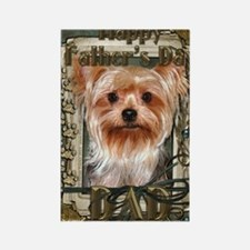 Stone_Paws_Yorkshire_Terrier_Dad Rectangle Magnet