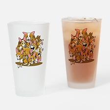 Corgi Cluster Drinking Glass