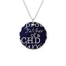 proud father copy Necklace Circle Charm
