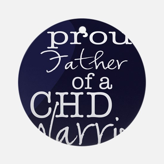 proud father copy Round Ornament