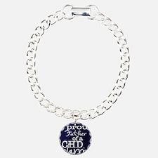 proud father copy Charm Bracelet, One Charm