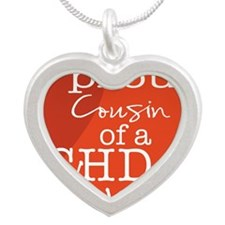 proud cousin copy Silver Heart Necklace