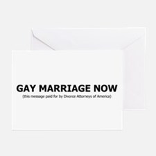 Gay Marriage Now Greeting Cards (Pk of 10)