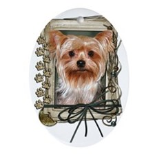 Stone_Paws_Yorkshire_Terrier Oval Ornament