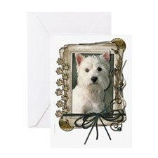 Stone_Paws_West_Highland_Terrier Greeting Card