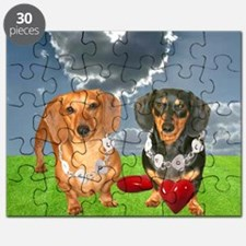 tig lil hearts clouds16x16 copy Puzzle