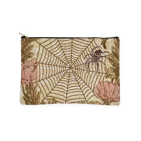 Spider Flower Wreath Makeup Pouch