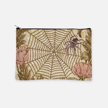 Spider Flower Wreath Makeup Bag