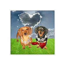 "tig lil hearts clouds16x16  Square Sticker 3"" x 3"""