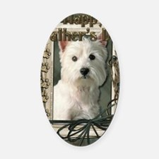 Stone_Paws_West_Highland_Terrier Oval Car Magnet