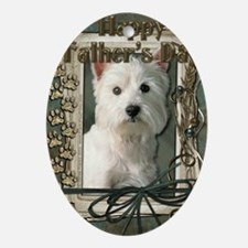 Stone_Paws_West_Highland_Terrier Oval Ornament