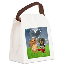 tig lil hearts clouds16x16 copy Canvas Lunch Bag