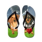 Valentines day for kids Flip Flops