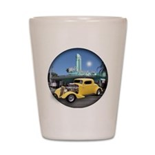 YELLOW COUPE BUTTON Shot Glass
