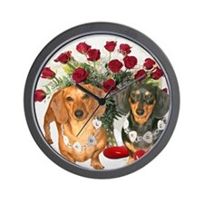 tig lil hearts 16x12 Wall Clock