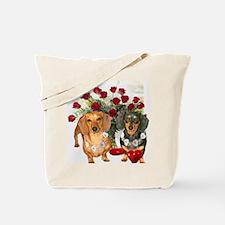tig lil hearts 16x12 Tote Bag