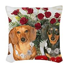 tig lil hearts 16x12 Woven Throw Pillow