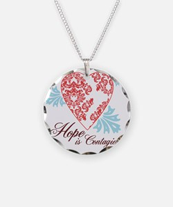 hope contageous copy Necklace Circle Charm