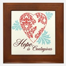 hope contageous copy Framed Tile